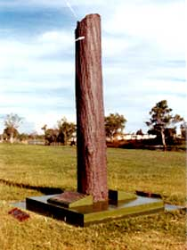 The Flood Memorial or The Stump - Tourism TAS