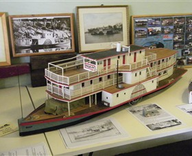 Wentworth Model Paddlesteamer Display - Tourism TAS