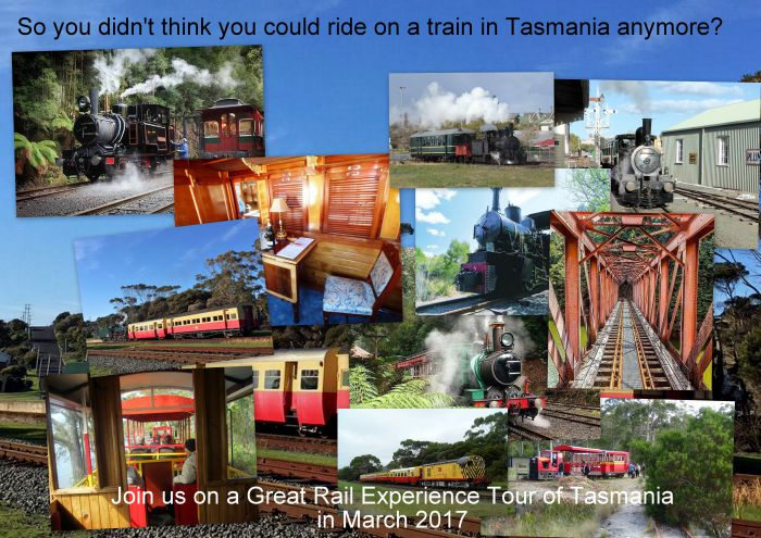 Great Rail Experiences  Tasmania Tour 2017 - Tourism TAS