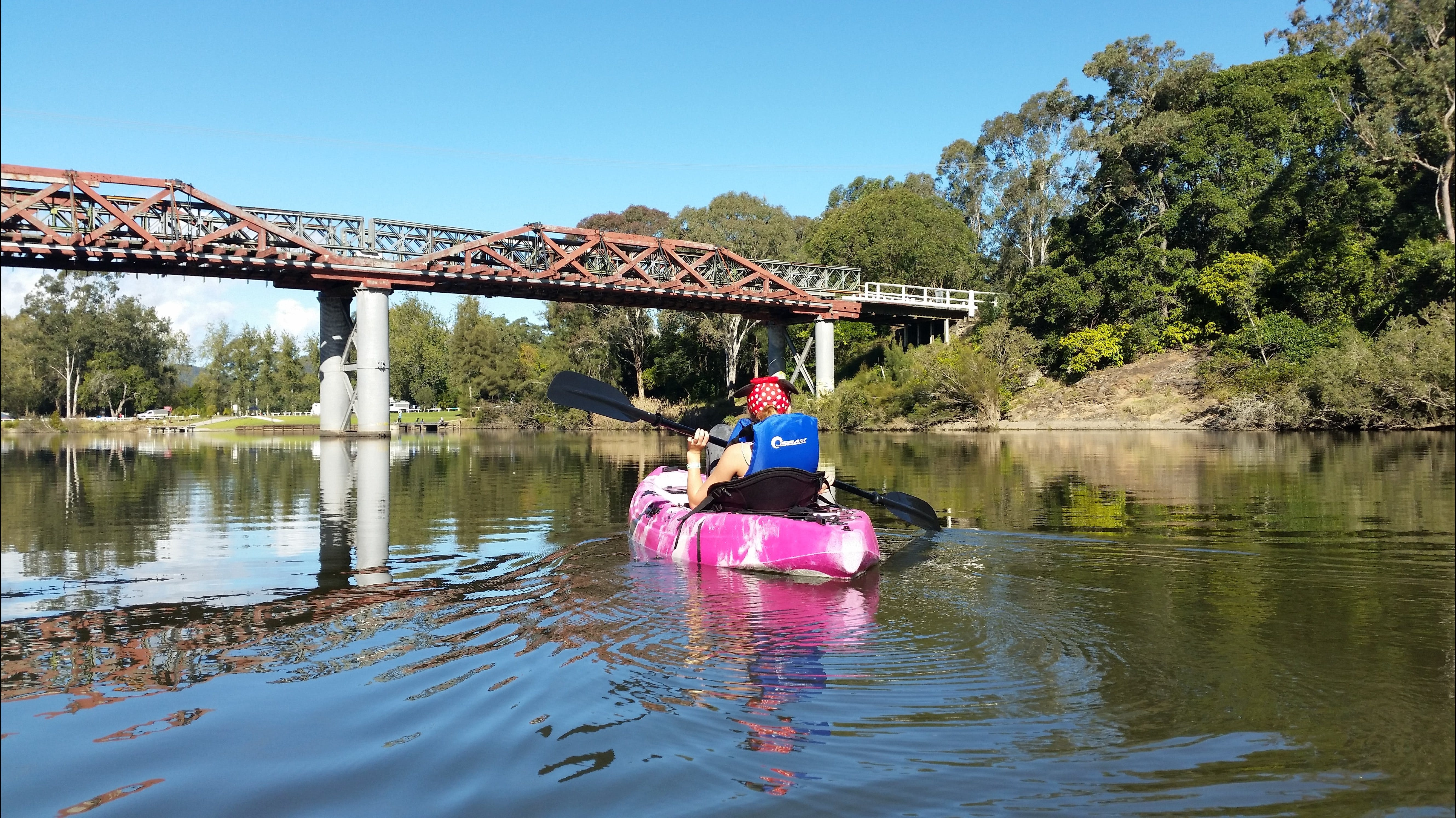 Canoeing at Clarence Town - Tourism TAS