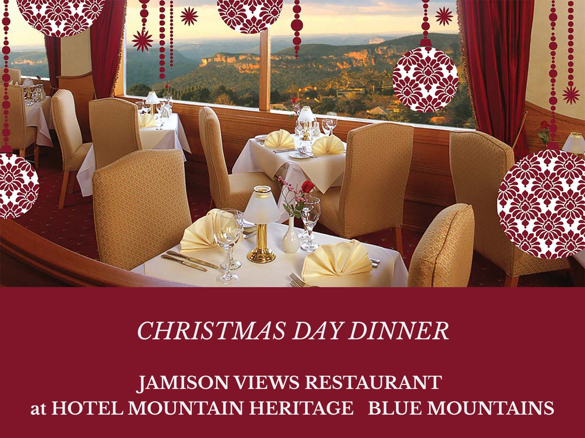 Christmas Day Dinner Hotel Mountain Heritage - Tourism TAS